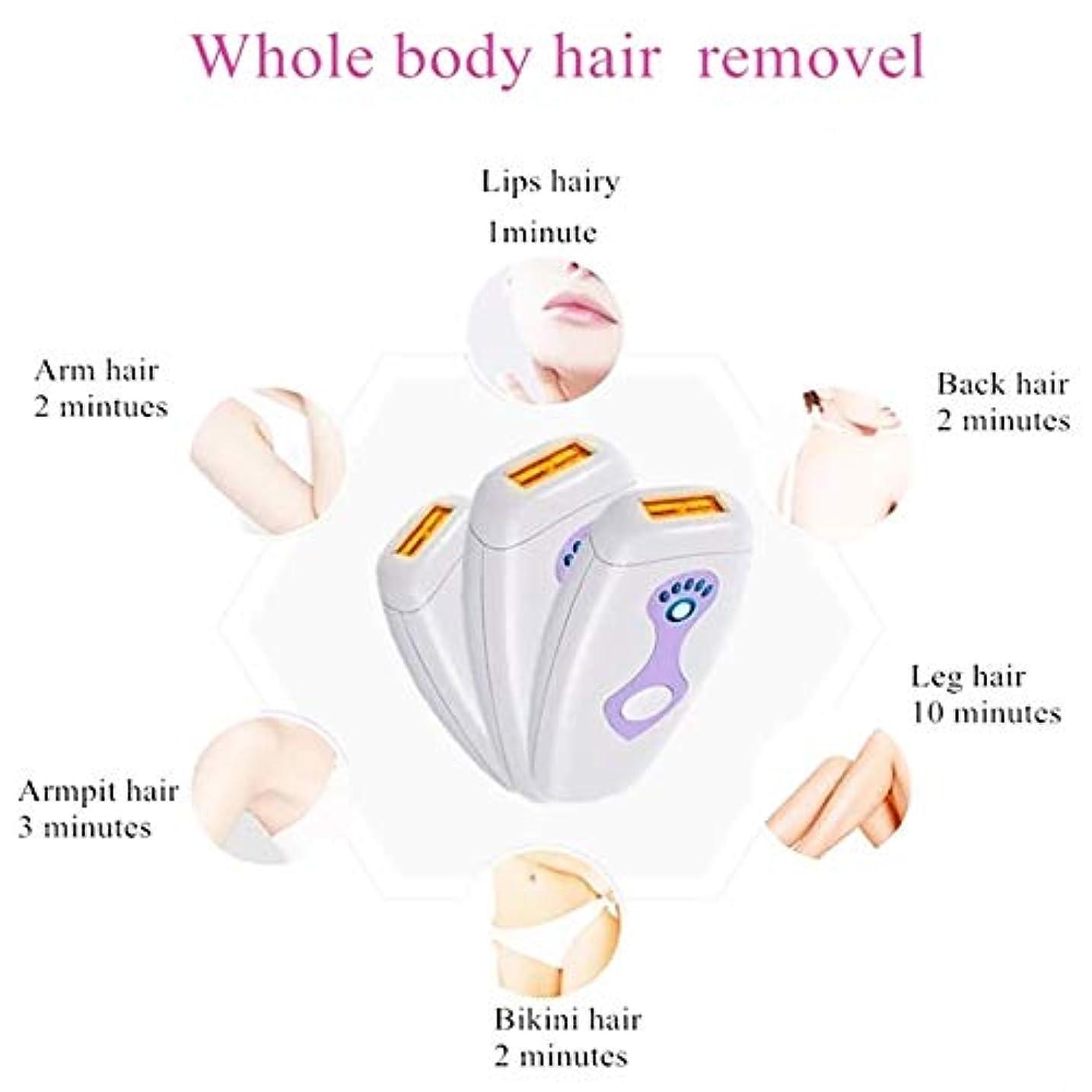 地震想像する気分が悪いヘアリムーバーフェイシャルリムーバー女性のスレッド脱毛器、痛みのない恒久的なIPL脱毛装置、500000点滅プロフェッショナルライト脱毛器