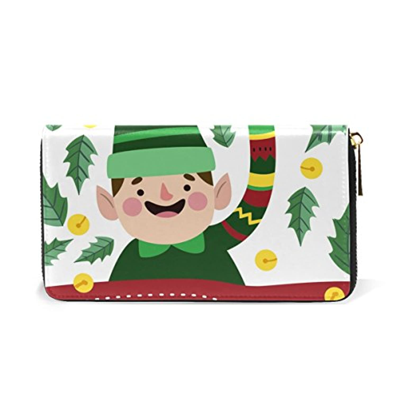 Mikyu(ミクョ)長財布 おしゃれ 本革 大容量 クリスマス 緑 グリーン かわいい レディース 財布 小銭入れ コインケース ウォレット メンズ ファッション お洒落 ファスナー 10代 20代 プレゼント