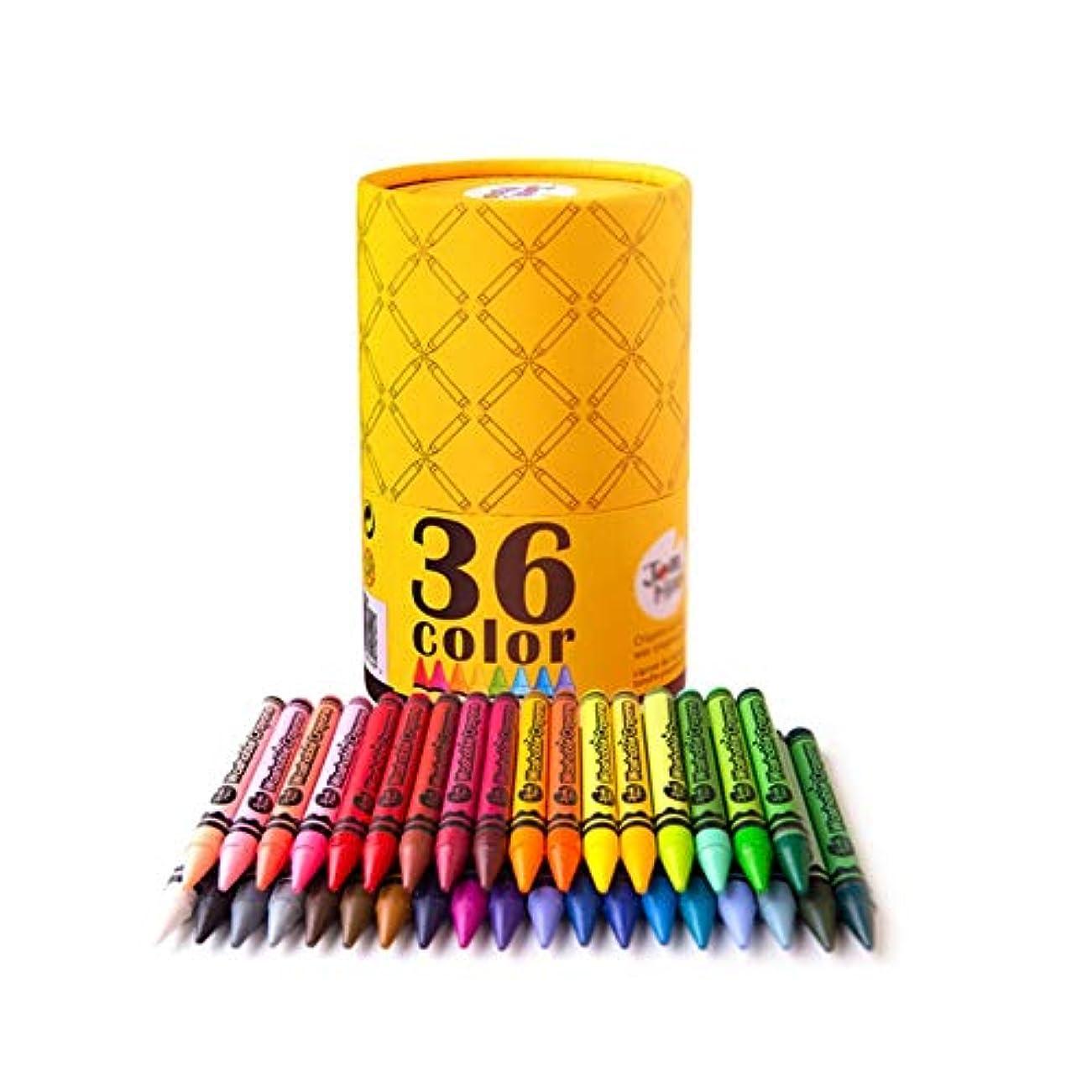 タールからポーンWuhuizhenjingxiaobu001 ペイントブラシ、36色の洗える太い棒の落下防止ブラシ、学生/絵画クレヨンを学ぶ子供たち練習ペイントツール(36色、14 * 9 cm) 良い着色効果 (Color : 36 colors, Size : 14*9cm)