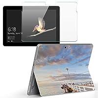 Surface go 専用スキンシール ガラスフィルム セット サーフェス go カバー ケース フィルム ステッカー アクセサリー 保護 風景 空 写真 009371