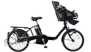 Panasonic(パナソニック) 2017年モデル ギュット・ミニ・DX カラー:マットブラック 20インチ BE-ELMD033-B2 子供乗せ付き電動アシスト自転車 専用充電器付