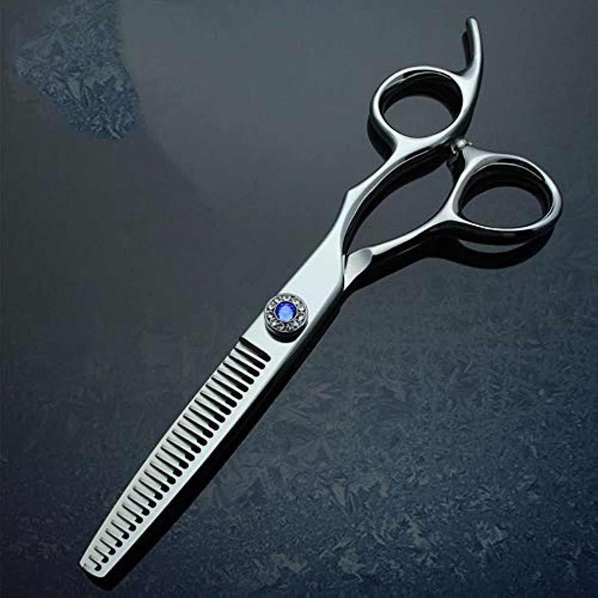 Goodsok-jp 6インチパイプハンドルプロフェッショナルハイエンド理髪はさみ間伐歯はさみセット (色 : 青)