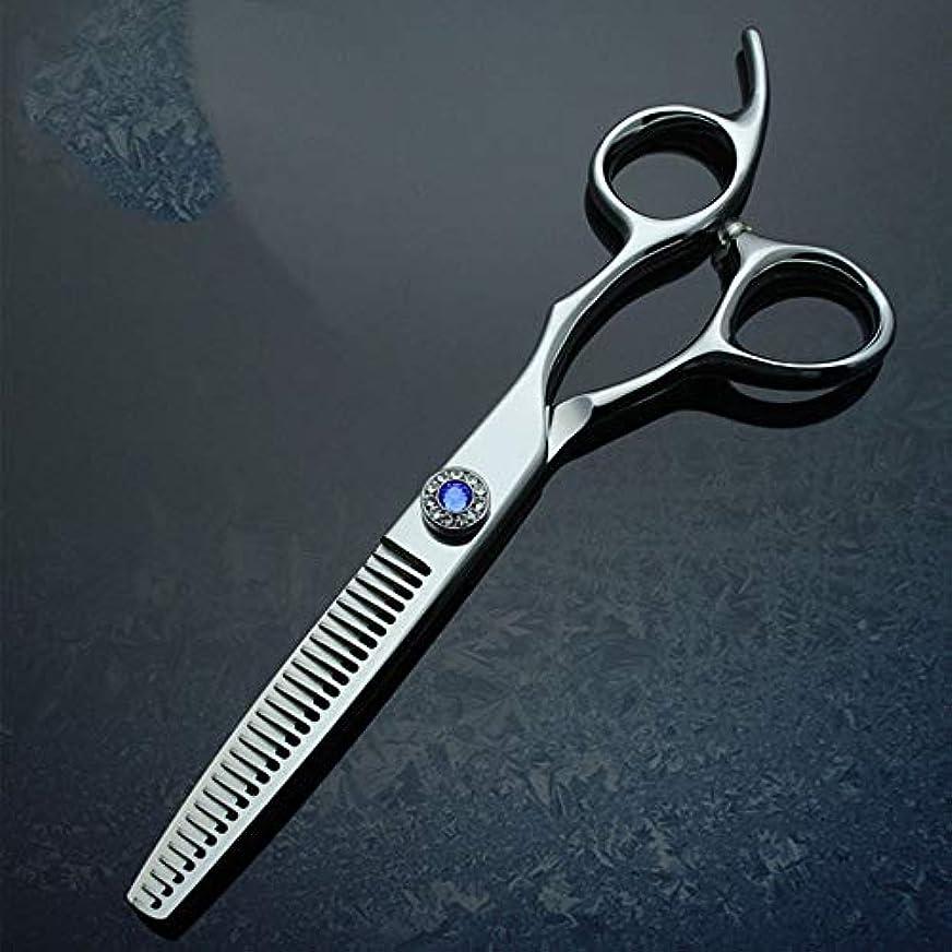 わかりやすいそよ風市民Goodsok-jp 6インチパイプハンドルプロフェッショナルハイエンド理髪はさみ間伐歯はさみセット (色 : 青)