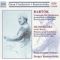 輸入盤 クーセヴィツキー/ボストン交響楽団 バルトーク:管弦楽のための協奏曲、ムソルグスキー(ラヴェル編曲):展覧会の絵のAmazonの商品頁を開く