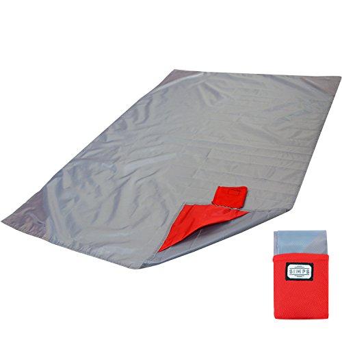 【SIMPS】 コンパクト レジャーシート 折り畳み 一人用レジャーシート 撥水加工 手のひら サイズ キャンプ 登山 アウトドア