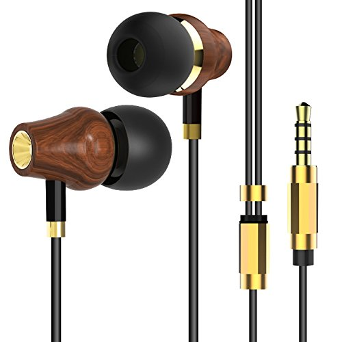 Ziofen イヤホン ヘッドホン カナル型 高音質 木 マイク ステレオ earphone ノイズキャンセリング 期間限定