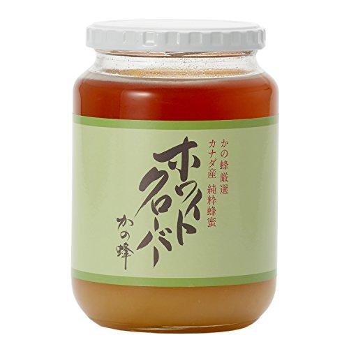 はちみつ 専門店【かの蜂】 厳選 カナダ 産 ホワイトクローバー 蜂蜜 1000g( 1kg ) 純粋 蜂蜜 (瓶容器)
