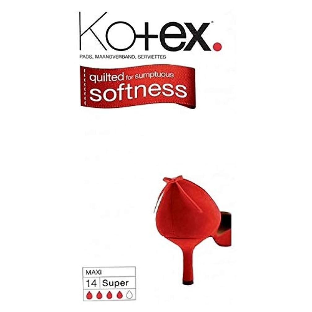 反発こどもの宮殿食欲[Kotex] Kotexマキシスーパー生理用ナプキン14パック - Kotex Maxi Super Sanitary Towels 14 pack [並行輸入品]