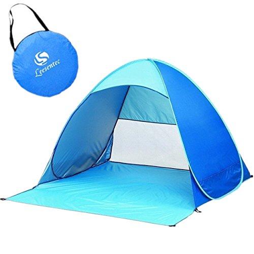 サンシェードテントLeesentec 2-3人用テント 展開最速5秒UV SPF50+日除け ワンタッチで簡単!海水浴・砂浜・運動会・公園・防災・ビーチ・プールに最適 キャリーバッグ付き