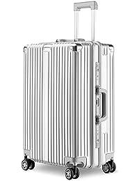 LNMLAN スーツケース アルミニウムマグネシウムフレーム 機内持ち込みスーツケース キャリーバッグ 静音キャスター 360°自由回転 旅行用4010
