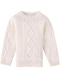 babea268624e5 Lisa Pulster ガールズ ボーイズ セーター 子どもセーター 無地 女の子 男の子 ...