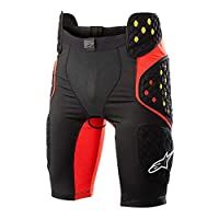 AlpinestarsシーケンスPro Men 's UndergarmentオフロードBody Armor–ブラック/レッド S 6507718-13-S