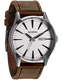 [ニクソン]NIXON NIXON SENTRY LEATHER: SILVER/BROWN NA1051113-00 メンズ 【正規輸入品】
