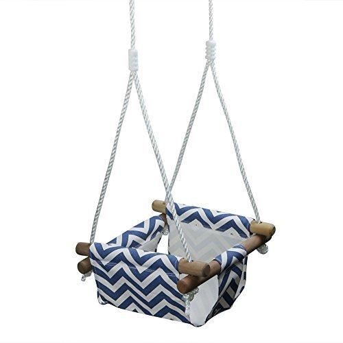 Pellor ブランコ 背もたれ付き キッズ 子供用 室内 屋外 家庭用(ブルー+ホワイト)