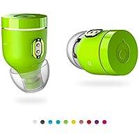 Crazybaby Air(NANO)充電式カプセル付き真のワイヤレスBluetoothイヤホン、Bluetooth 5.0対応、スポーツ用イヤホン、高音質、 終日のバッテリー寿命とマイク、 (ボルトグリーン)