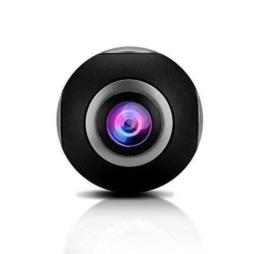 (NIUIEME)720度 デュアル魚眼レンズ 2K 3D VR Android パノラマ カメラ 、Androidスマートフォン用 (ブラック)
