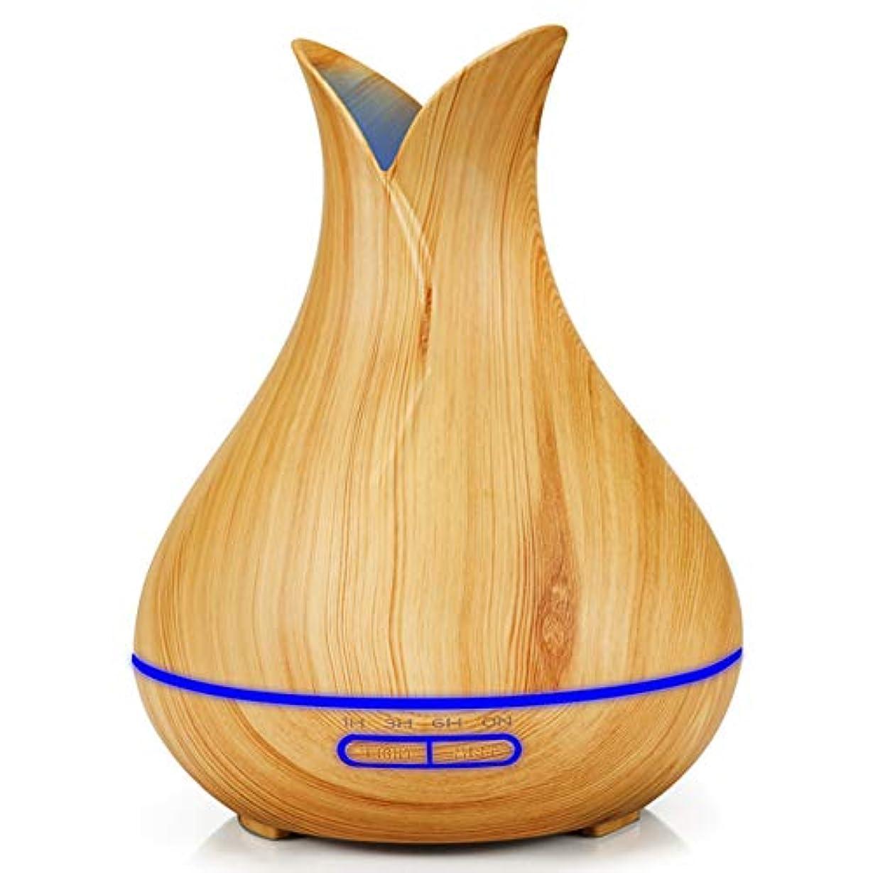 義務航空コールアロマエッセンシャルオイルディフューザーミニ花瓶エッセンシャルオイルディフューザー家庭用スプレー木目アロマセラピーマシン-lightwoodgrain