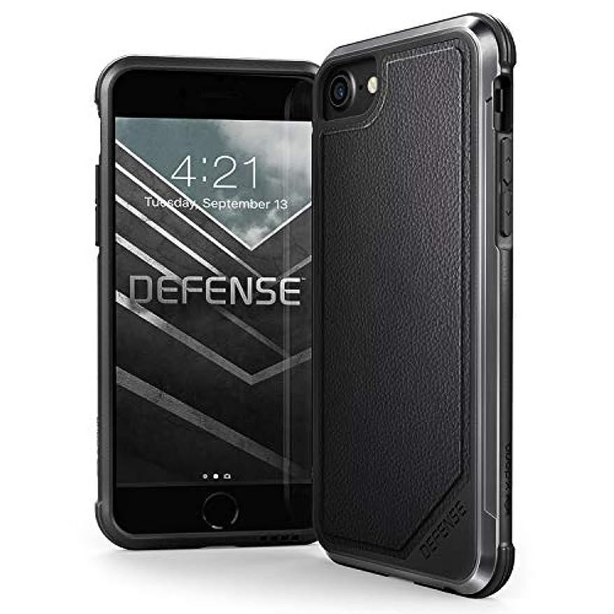 先見の明病気規模iPhone 8、iPhone 7、iPhone 6ケース、X-Doria Defense Luxシリーズ - ミリタリーグレード ドロップテスト済みケース Apple iPhone 8、iPhone 7、iPhone 6用 (ブラックレザー)