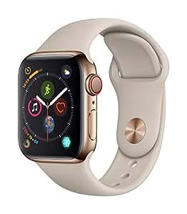 AppleWatch Series4(GPS+Cellularモデル)- 40mmゴールドステンレススチールケースとストーンスポーツバンドMTVN2J/A