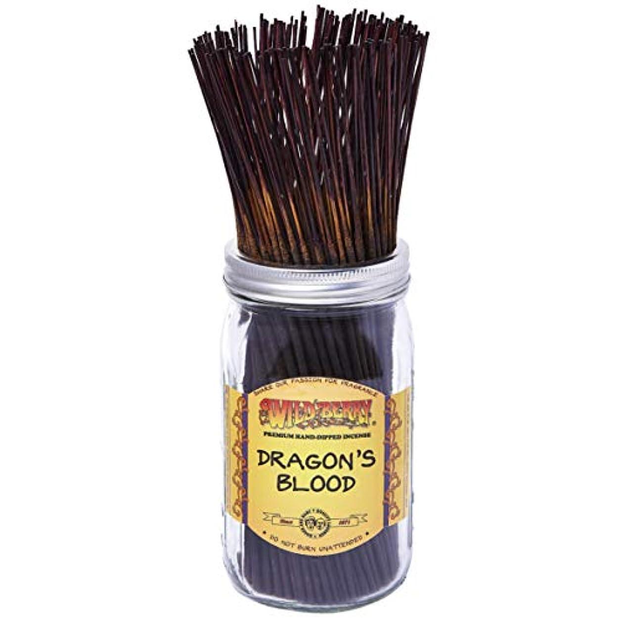 揺れる太字慈悲深いDragon's Blood - 100 Wildberry Incense Sticks