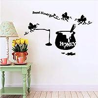 Lixiaoer 現代の甘い蜂蜜蜂ウォールステッカー用キッズルーム用接着剤壁のステッカー家の装飾28×40センチ