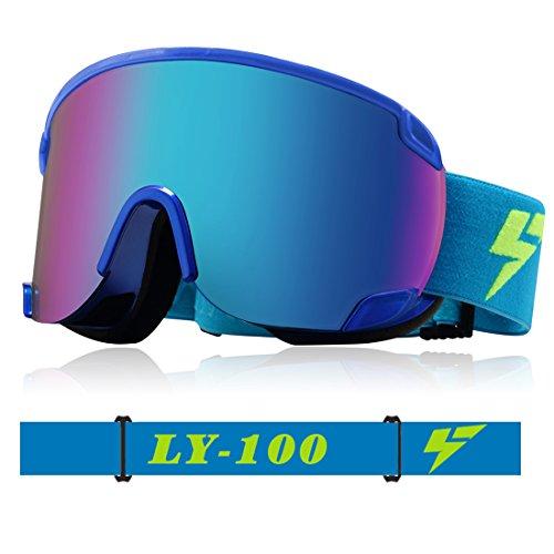 Uxcell スキーゴーグル スノーボード ゴーグル Otg アンチフォグ Uv400
