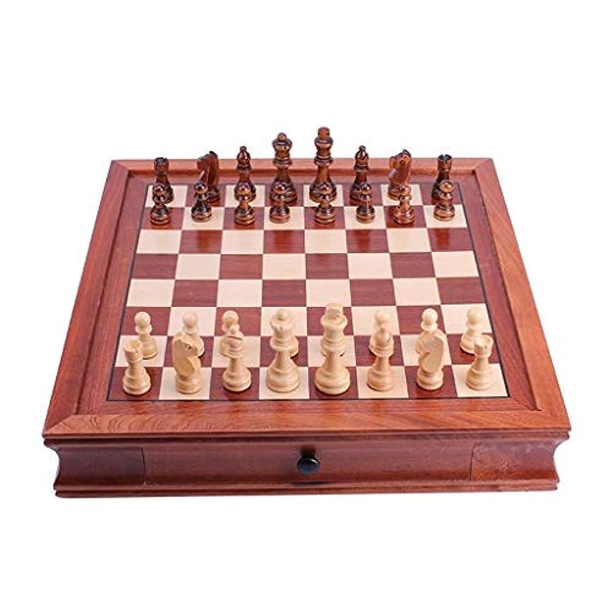 推進、動かす危険な防腐剤チェスホームデコレーション木製チェス教育玩具ボードセットマグネットチェスホームデスクトップの装飾 (Color : M)