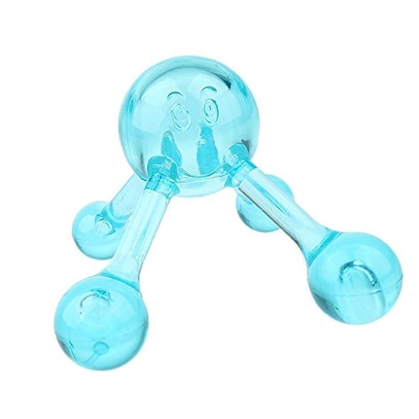 豪華なドキドキ毎月Baoblaze ネック ショルダー バック マッサージボール マニュアル ローラーマッサージャー プラスチック製