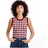 J. Crew Italian Featherweight Cashmere Shell Vest for Women in Pink Gingham, XXSmall