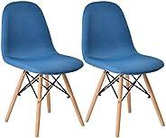オーエスジェイ(OSJ) ダイニングチェア デザイナーズ ファブリック生地 布地 イームズモダンデザイン 天然木脚 イームズ椅子 北欧 おしゃれ デザイナーズ リプロダクト 2個セット ファブリック