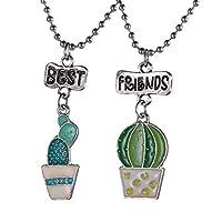 [ホーアムアイ]HooAMI ペアペンダント ネックレス best friend 可愛い 鉢植え 樹脂 合金 友達 プレゼント 3*2.3cm