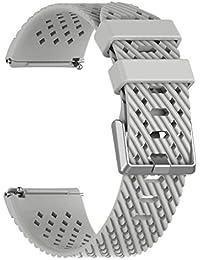 Dabixx シリコーン代替腕時計バンド,ウォッチストラップ Fitbit Versa Watch - グレー - S
