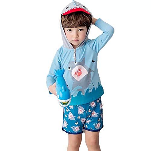 bf709a98c3a1f S C Live 水着 キッズ子供 男の子 男児 帽子付水着2点セット UVカット 日焼け