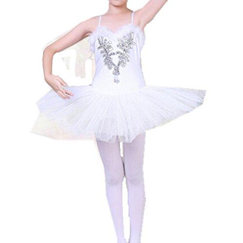 GoGokids キッズ ガールズ チュールワンピース シフォン ダンス衣装 バレエ練習着子供 女の...