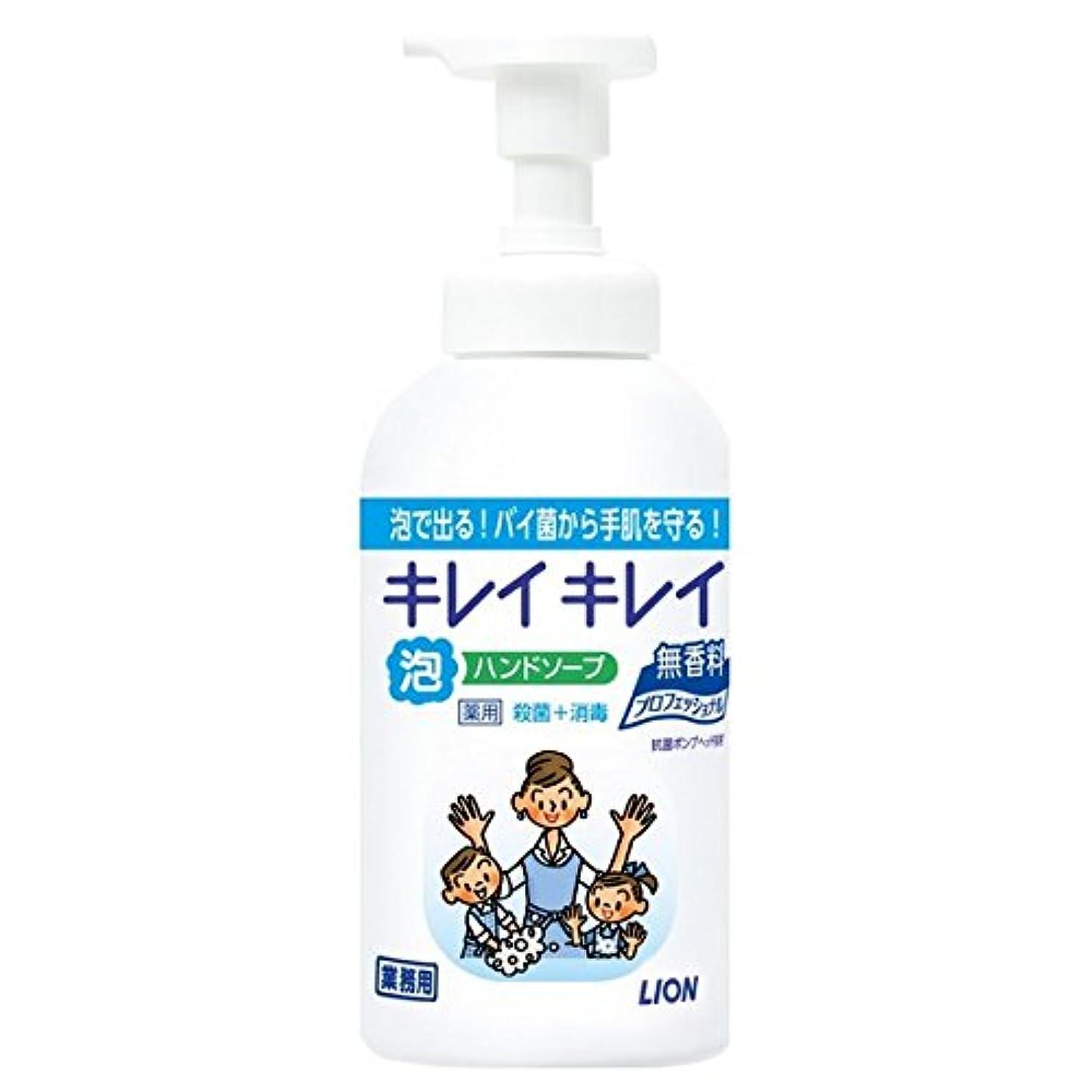 抵抗頑張るハシーライオン キレイキレイ薬用泡ハンドソープ 無香料 550ml×12本入