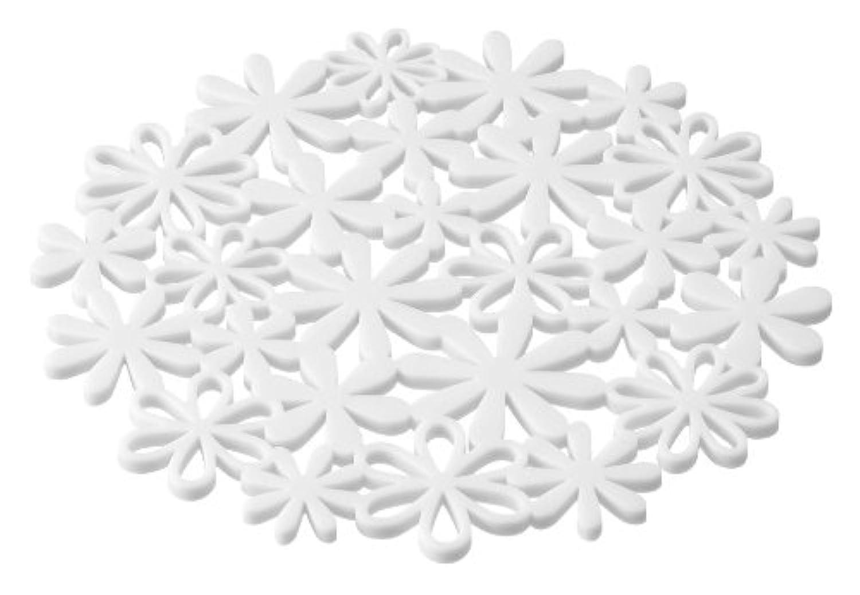 natura  ナベ敷きフラワー ホワイト