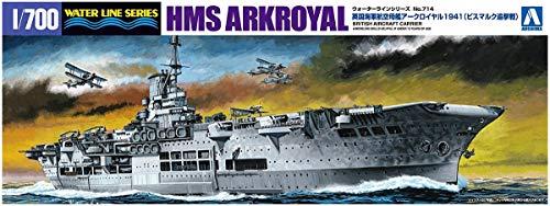 1/700 ウォーターライン No.714 英国海軍航空母艦 アークロイヤル 1941 ビスマルク追撃戦