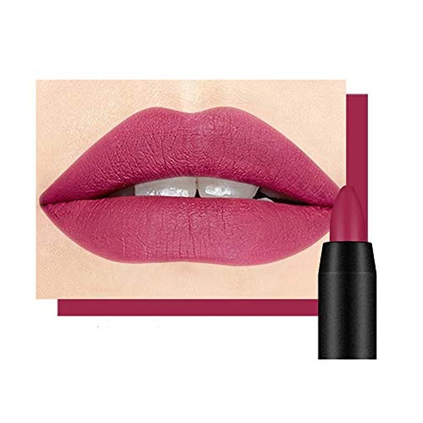 銃進む残基MeterMall 回転可能なマットの口紅のペンの自然な防水長続きがする唇の光沢 14#プラムカラー