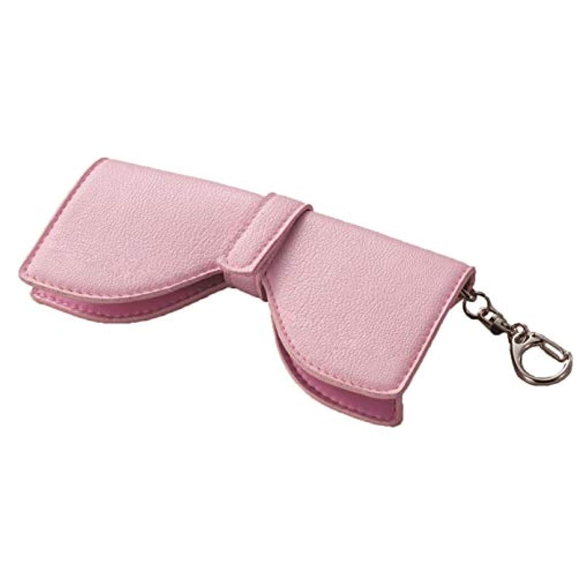 同一のようこそレジ日用品 メガネケース 関連商品 大人可愛いリボン型メガネホルダー(ピンク)
