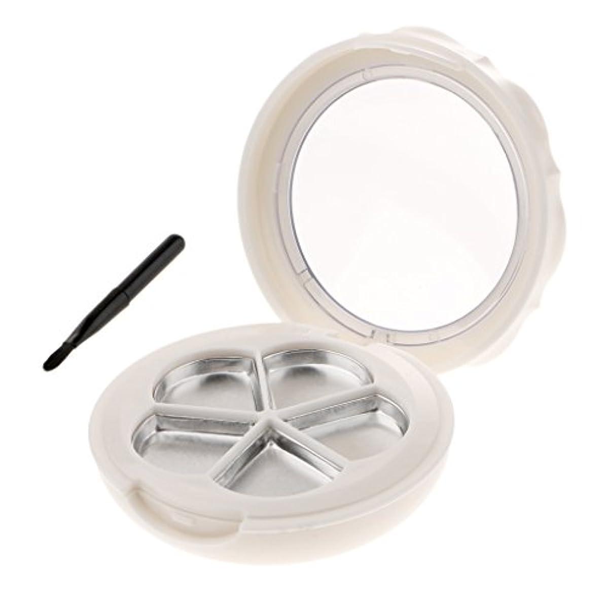 最初伝染性のスパイラル空ケース 化粧品ケース 収納ケース 空パレット メイクアップパレット コスメ 化粧品 詰替え DIY コンパートメント 便利 2色選べる - 白