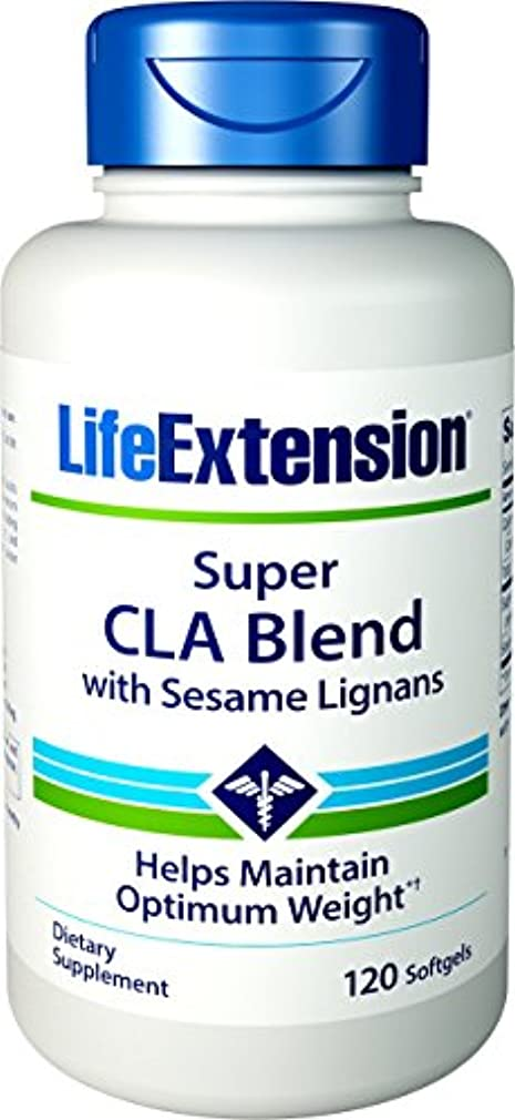 バルコニー推定満了海外直送品Super CLA Blend, 1000 mg, Sesame Lignans 120 softgels by Life Extension
