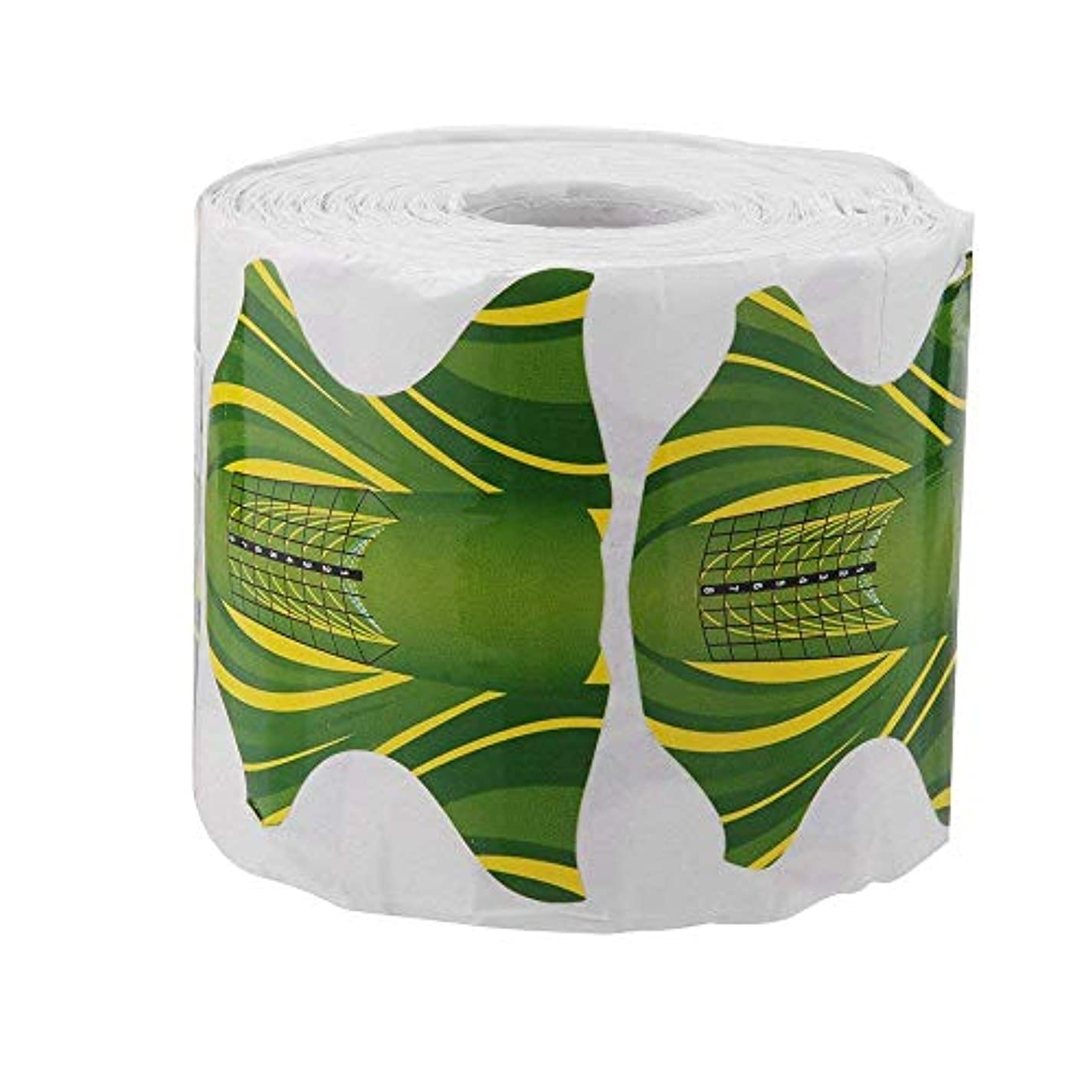 蛾専門知識摂氏CUHAWUDBA 500本 ネイルアート アクリル チップ ガイドゲル エクステンション ネイルスタイルのツール ネイルケア