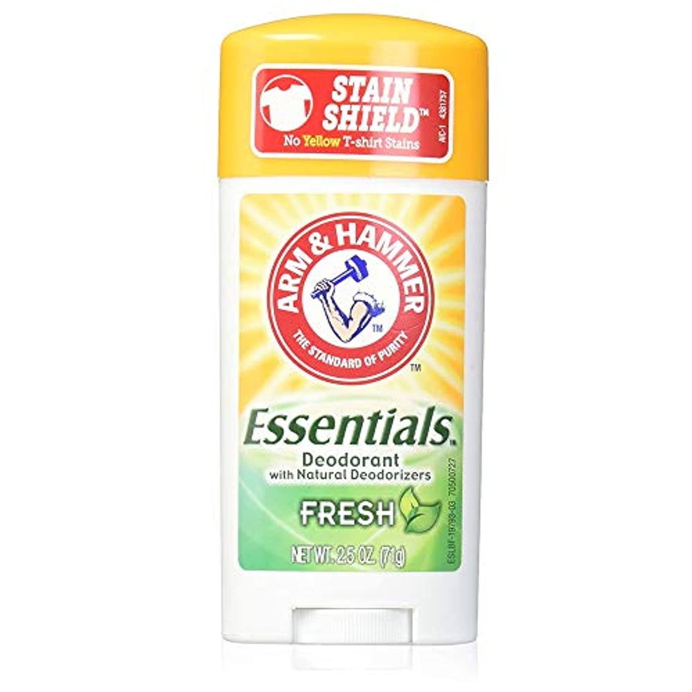 抑圧する熱狂的な涙が出るアーム&ハマー デオドラント【フレッシュ】制汗剤【お風呂上がりの香り】Arm & Hammer Essentials Natural Deodorant Fresh 71?[並行輸入品]