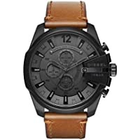 DIESEL Men's DZ4463 Year-Round Chronograph Quartz Brown Band Watch
