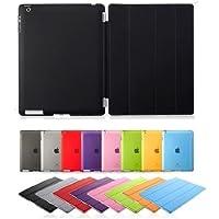 【アップル 専用】【iPad 2/3/4 ケース】【iPad 2/3/4 ケース 軽量】【iPad 2/3/4 ケース クリア】【iPad 2/3/4 ケース オートスリープ】【iPad 2/3/4 ケース】【iPad 2/3/4 ケース レザー】 Apple iPad2、3 & The New iPad (第4世代) Smart Case スマートケース iPad ポリウレタン ポリウレタン製 タッチペン付け【 ブラック Black 黒】