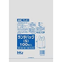 レジ袋 白 ランチバッグ Sサイズ 400(160)x350mm 2000枚入 TL01