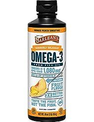 Barlean's - Omegaの渦巻Omega-の3 魚オイルのマンゴのモモ - 16ポンド