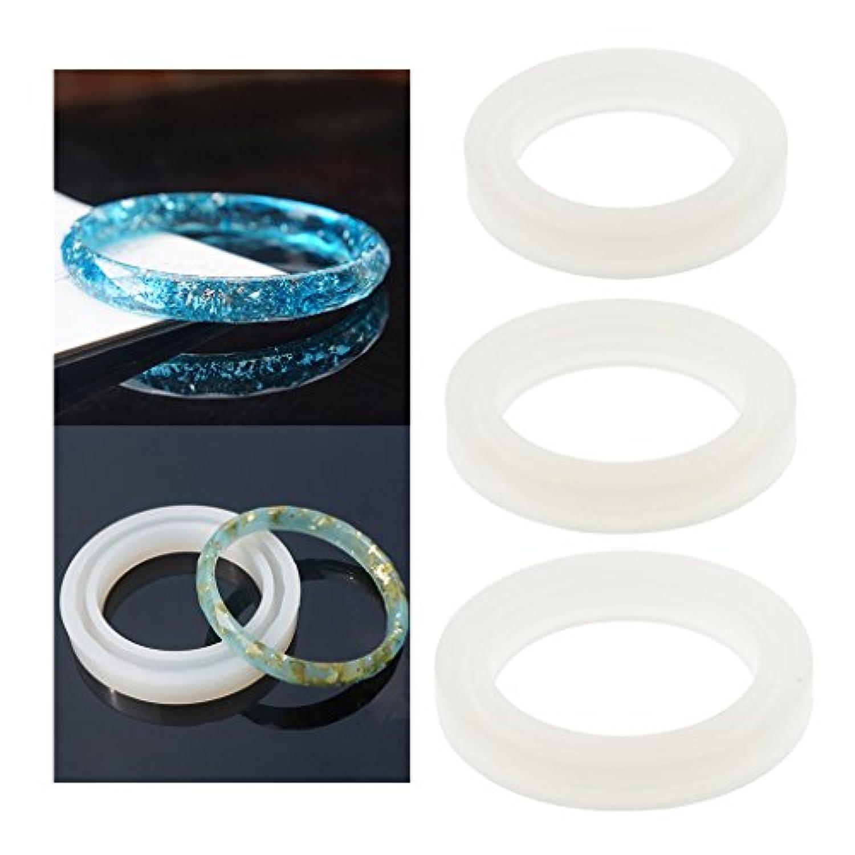 ジュエリーMakingクラフトmold-nacola 2pcs DIYシリコンラウンドMolds樹脂用カーブバングルブレスレットジュエリーMakingクラフトツールMoulds 58mm NAC09282760