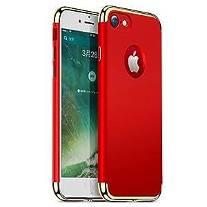 iPhone7 ケース TORRAS 薄型アイフォン7ケース  高級感 指紋防止 スリム アイホン7用カバー 耐スクラッチ 3パーツ式保護ケース 4.7インチに対応(iphone7,レッド)