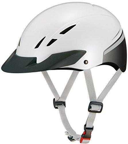 OGK KABUTO(オージーケーカブト) ヘルメット ELECAP パールホワイト サイズ: 57~59cm